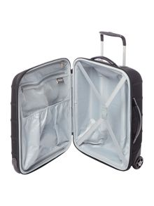 Linea Frameless pod black 2 wheel soft cabin suitcase