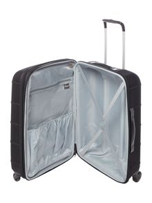 Linea Frameless pod black 4 wheel soft medium suitcase