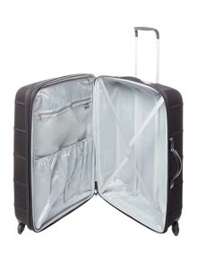 Linea Frameless pod black 4 wheel soft large suitcase