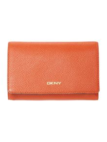 DKNY Chelsea orange medium foldover purse