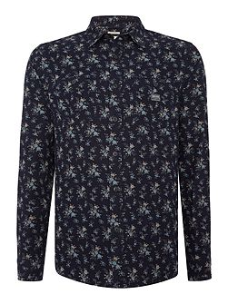 Regular fit ditzy floral print shirt