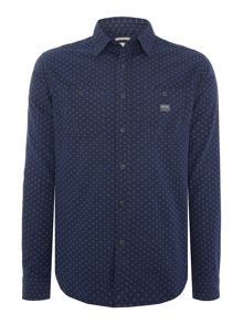 Denim and Supply Ralph Lauren Regular fit dot print shirt