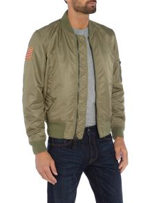 Denim and Supply Ralph Lauren Zip through padded bomber jacket