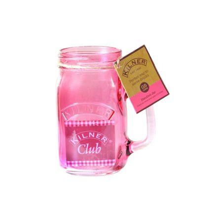 Kilner 400ml Handled Jar Pink