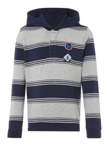 Howick Junior Long Sleeve Rugby hooded top with stripes