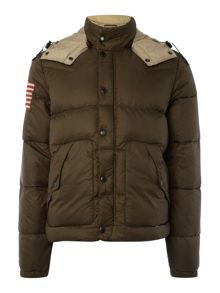 Denim and Supply Ralph Lauren Cropped padded hooded parka jacket