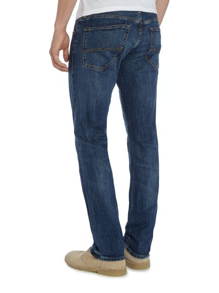 Denim and Supply Ralph Lauren Slim fit distressed light wash jean