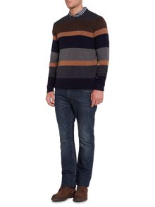 Howick Arlington Stripe Crew Neck Jumper