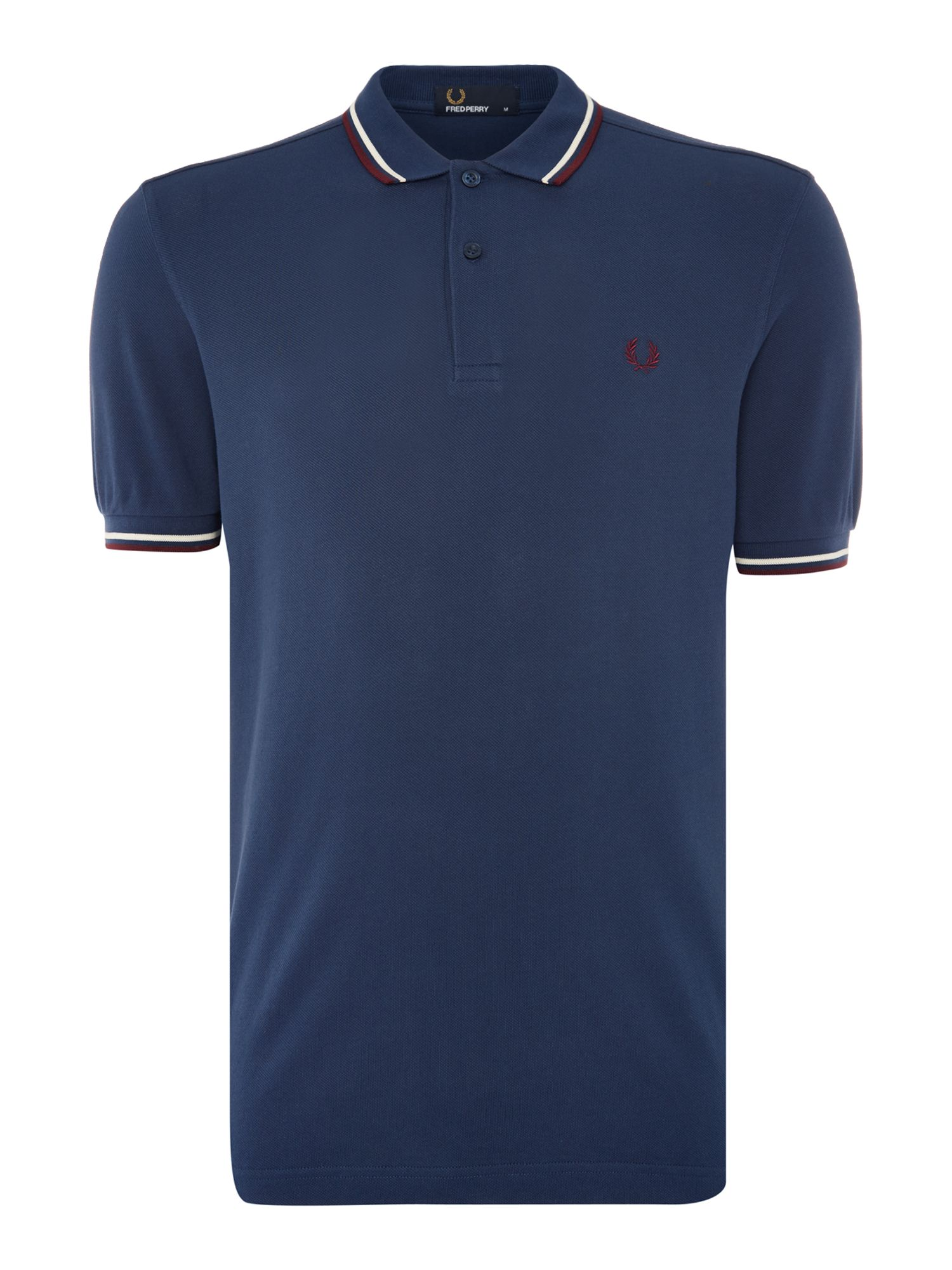 Mens Fred Perry Twin Tipped Polo Shirt Dark Blue