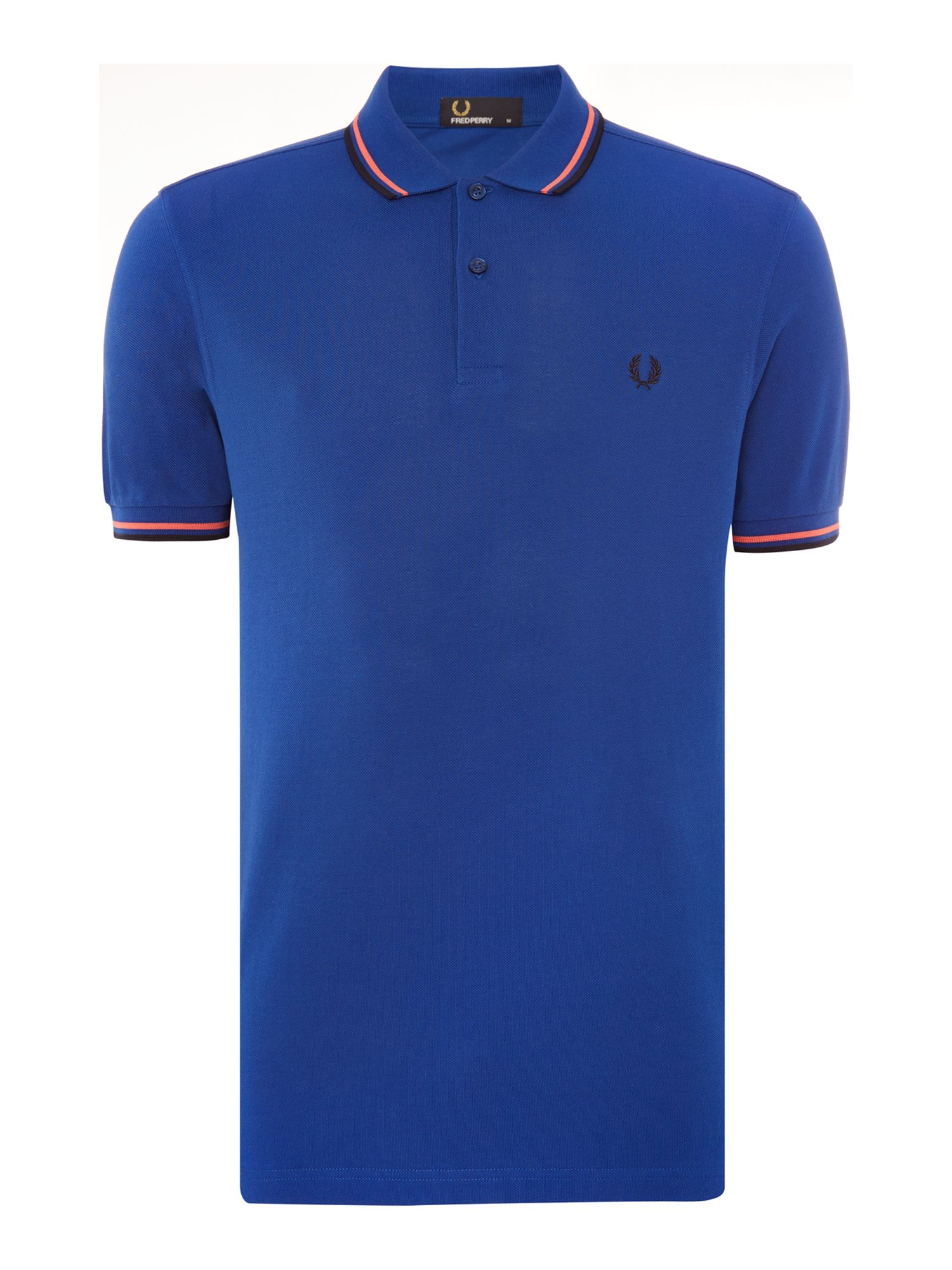 Mens Fred Perry Twin Tipped Polo Shirt Blue