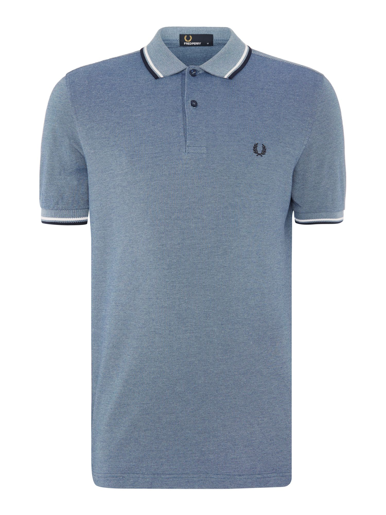 Mens Fred Perry Twin Tipped Polo Shirt Sea Blue