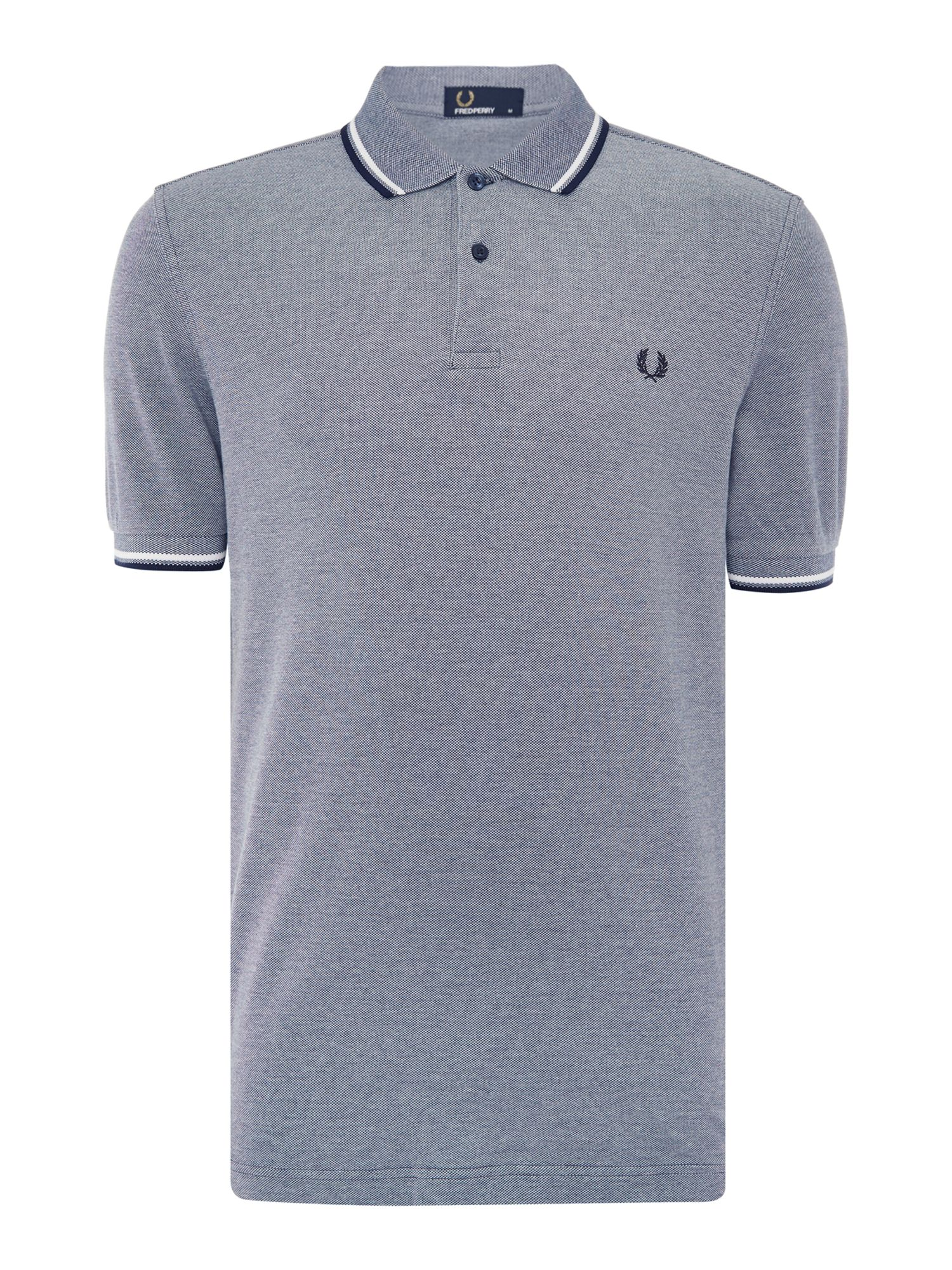 Mens Fred Perry Twin Tipped Polo Shirt Light Blue