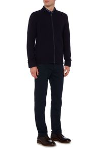Linea Vau Baseball Neck Zip Cardigan