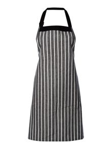 Linea Butcher stripe black apron