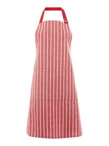 Linea Butcher stripe red apron