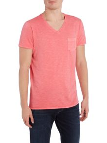 Benetton Pocket Detail V-Neck T-shirt