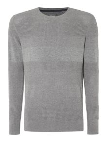 Linea Claude Textured Stripe Crew Neck