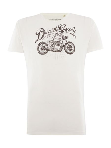Denim and Supply Ralph Lauren Regular fit motorcycle logo printed t shirt