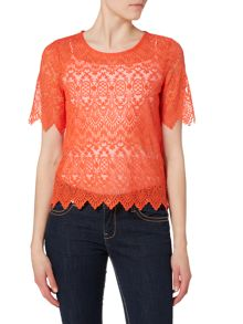 Vero Moda 1/4 Sleeve Lace Top