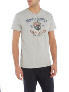 Denim and Supply Ralph Lauren Regular fit helmet skull print t shirt