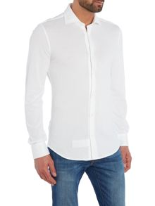 Benetton Pique Cotton Long Sleeve Shirt
