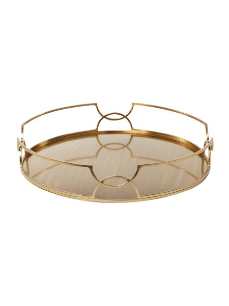 Living by Christiane Lemieux Brushed gold cocktail tray