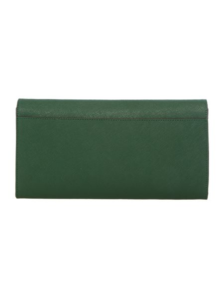 DKNY Saffiano green travel wallet