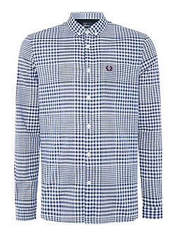 Distorted gingham long sleeve shirt