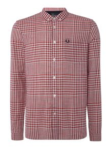 Fred Perry Distorted gingham long sleeve shirt