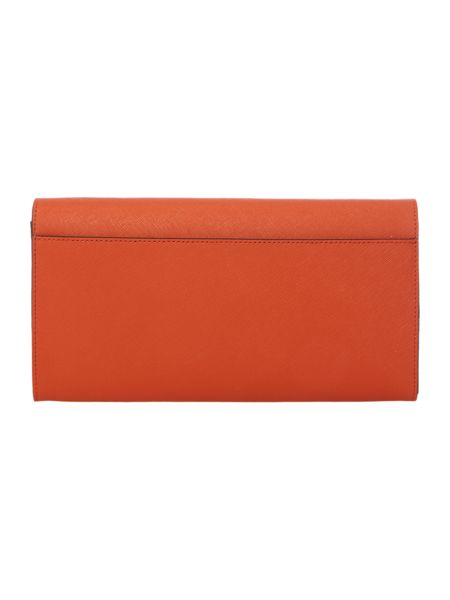 DKNY Saffiano orange travel wallet