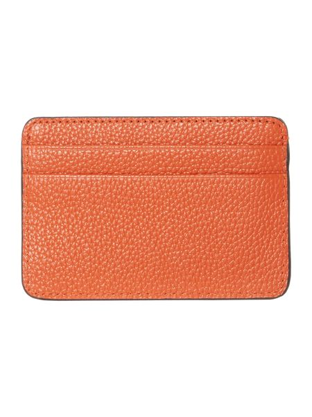 DKNY Saffiano orange card holder