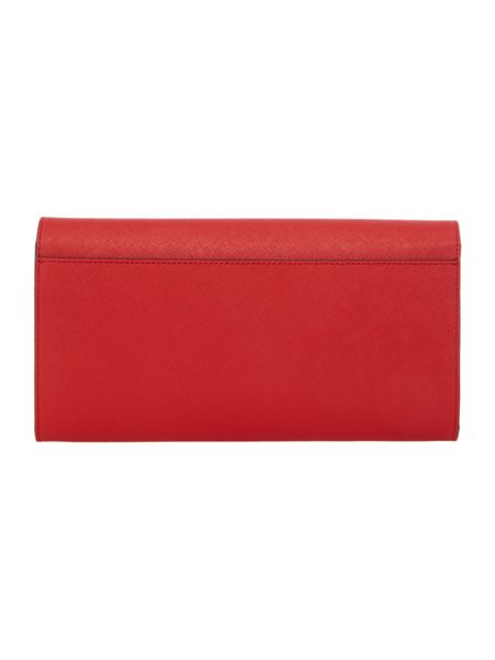 DKNY Saffiano red travel wallet