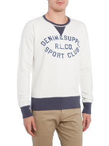 Denim and Supply Ralph Lauren Crew neck contrast trim sport club sweatshirt