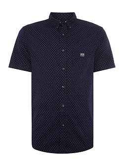 Regular fit mini star print short sleeve shirt