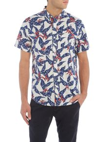 Denim and Supply Ralph Lauren Regular fit palm print short sleeve shirt