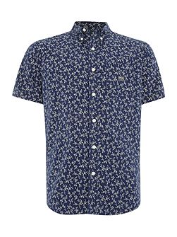 Regular fit mini floral print short sleeve shirt