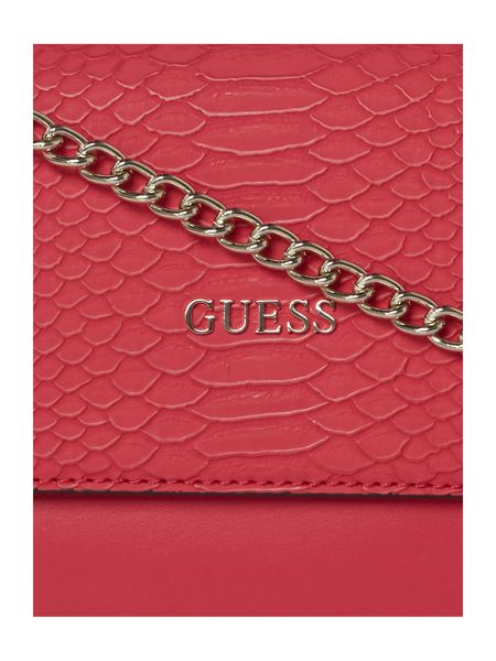 Guess Pink foldover cross body bag