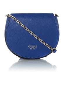 Guess Blue foldover cross body bag