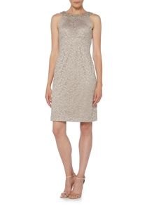 Eliza J Crystal neck lace shift dress