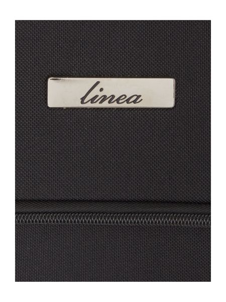 Linea Oxford black 2 wheel soft cabin suitcase