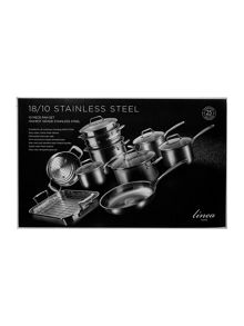 Linea 10 Piece Stainless Steel Pan Set