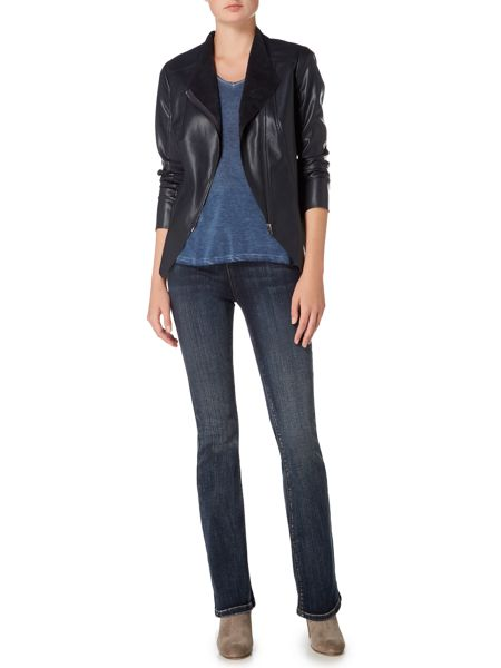 Maison De Nimes Northshore Zip Faux Leather Jacket