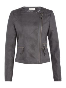 Maison De Nimes Dions Faux Leather Biker Jacket