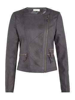 Dions Faux Leather Biker Jacket