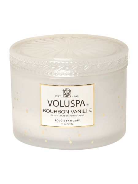 Voluspa Bourbon Vanille 11oz Corta Maison Glass Candle