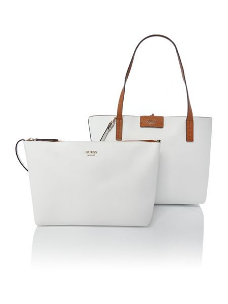 Guess White reversible tote bag