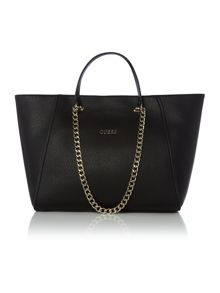 Guess Black shoulder chain tote bag