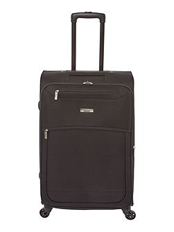 Oxford black 4 wheel soft medium suitcase