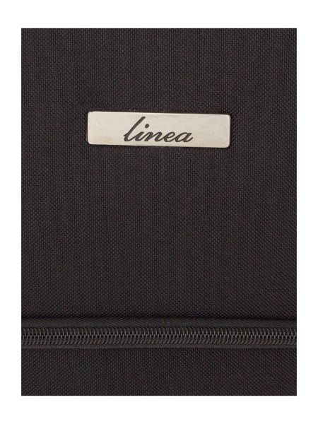 Linea Oxford black 4 wheel soft large suitcase