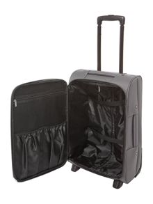 Linea Oxford grey 2 wheel soft cabin suitcase